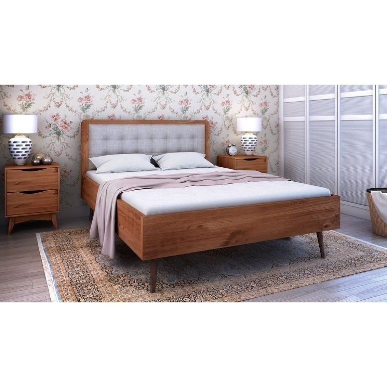 Rustic Modern 62 Tufted Bedford 2 0 Queen Size Bed Frame With