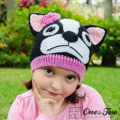 627900a4b98 Boston Terrier   French Bulldog Hat Crochet Pattern by One and Two Company