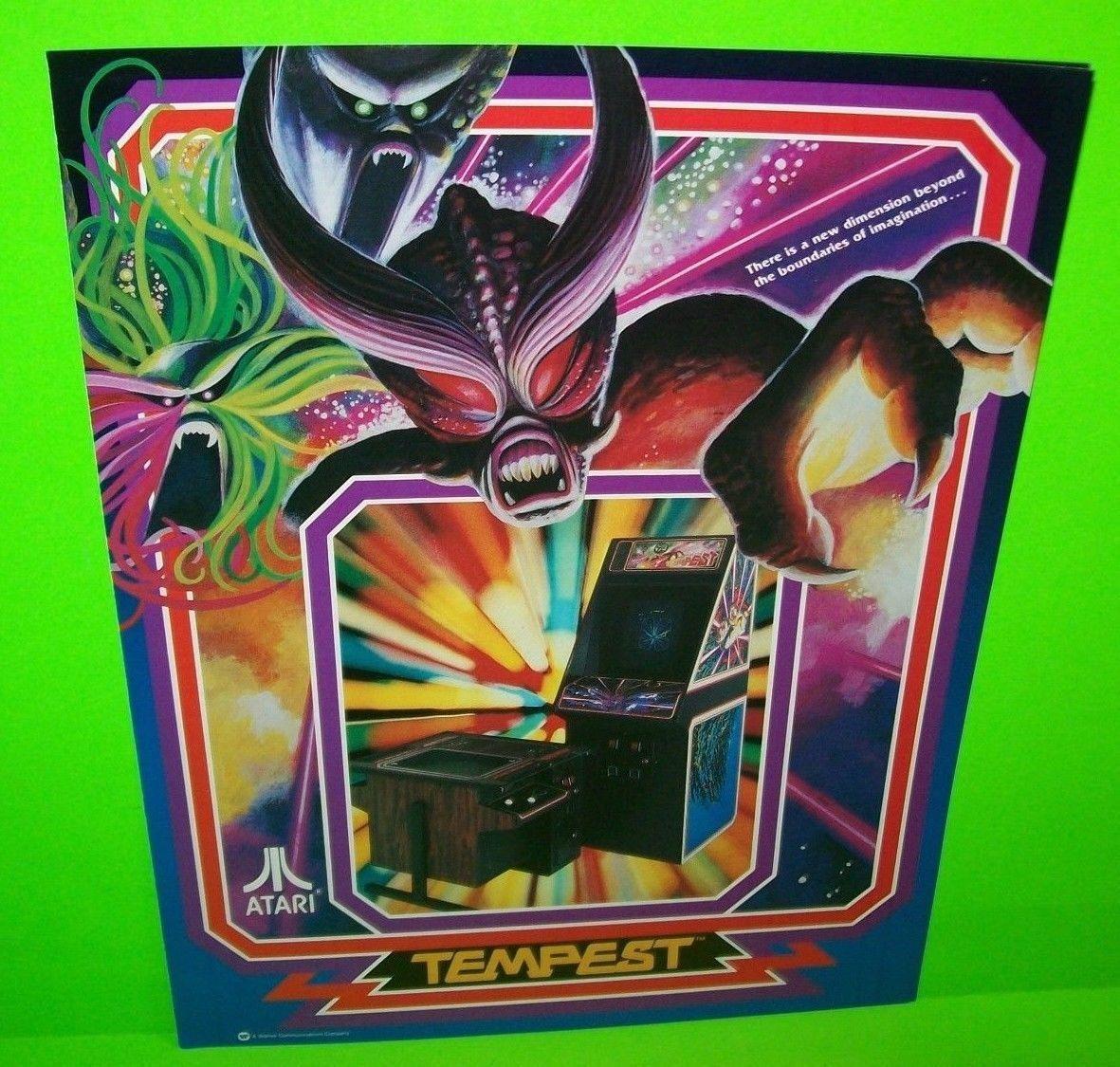 Arcade Art Tempest Atari Video Arcade Game FLYER 1982