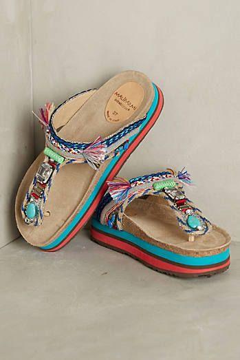 bd68fb7a09e2 Maliparmi Villaviad Flatforms · Beaded ShoesWomens ...