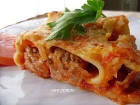 Кулинарные рецепты от Лики: Каннеллони с мясом