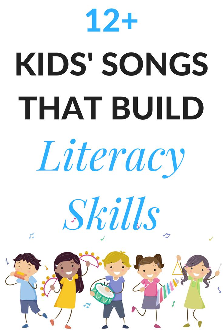 12+ favorite songs to build literacy skills | my favorite kid