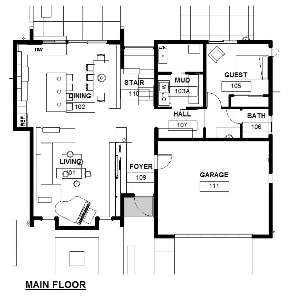 Home plan architecture