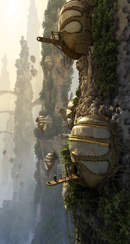 Cliff Village Concept Art