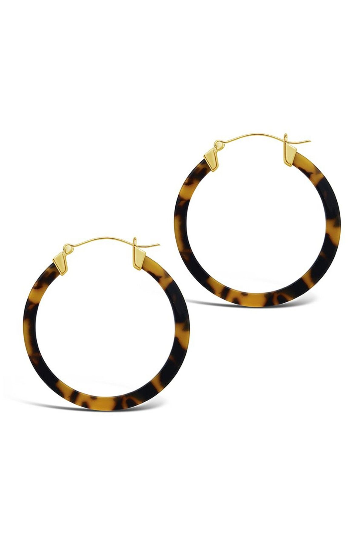fe1f848f0 Sterling Forever - 50mm Tortoise Acetate Hoop Earrings is now 56% off. Free  Shipping on orders over $100.