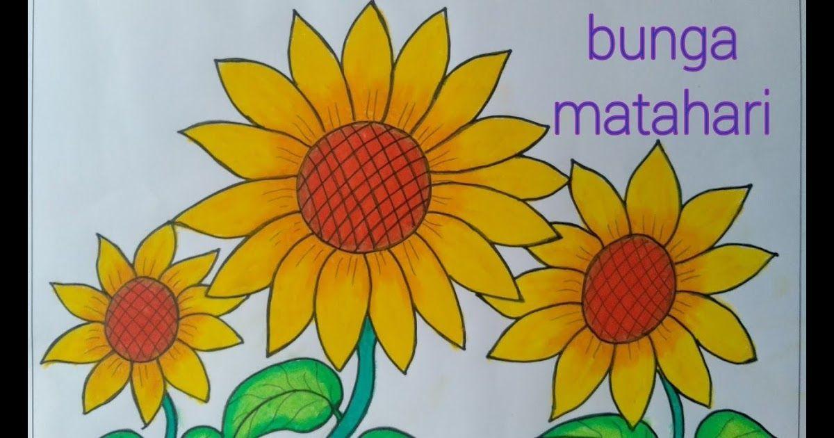 Gambar Bunga Matahari Dengan Krayon Menggambar Bunga Matahari Mewarnai Dengan Gradasi Crayon Oil Pastels Mewarnai Bunga Di 2020 Bunga Gambar Lukisan Bunga Matahari