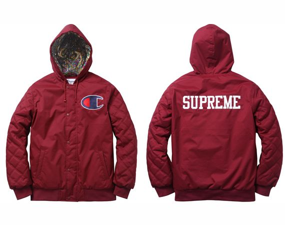 Champion x Supreme Zip Up Jacket & Pullover Hoody | STUFF