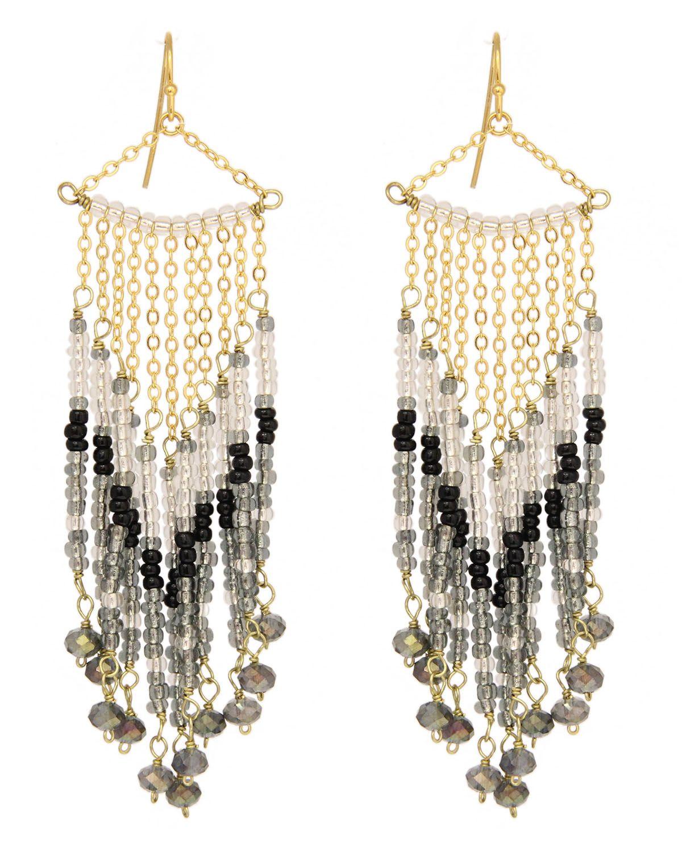 Multi color beaded chandelier earrings by taolei fashion earrings multi color beaded chandelier earrings by taolei arubaitofo Choice Image