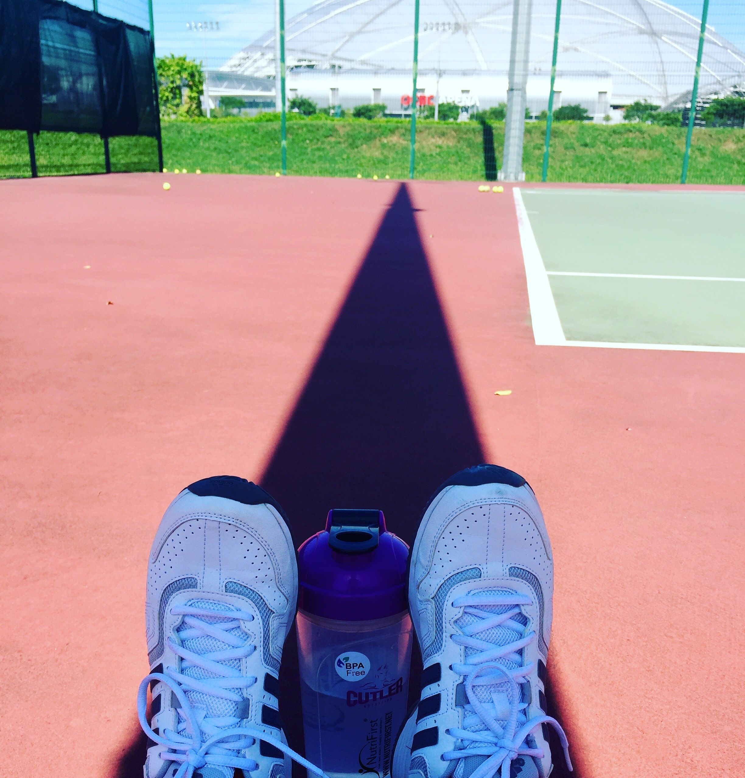 Seeking refuge anywhere where there is shade @ Kallang Tennis Ctr - Singapore