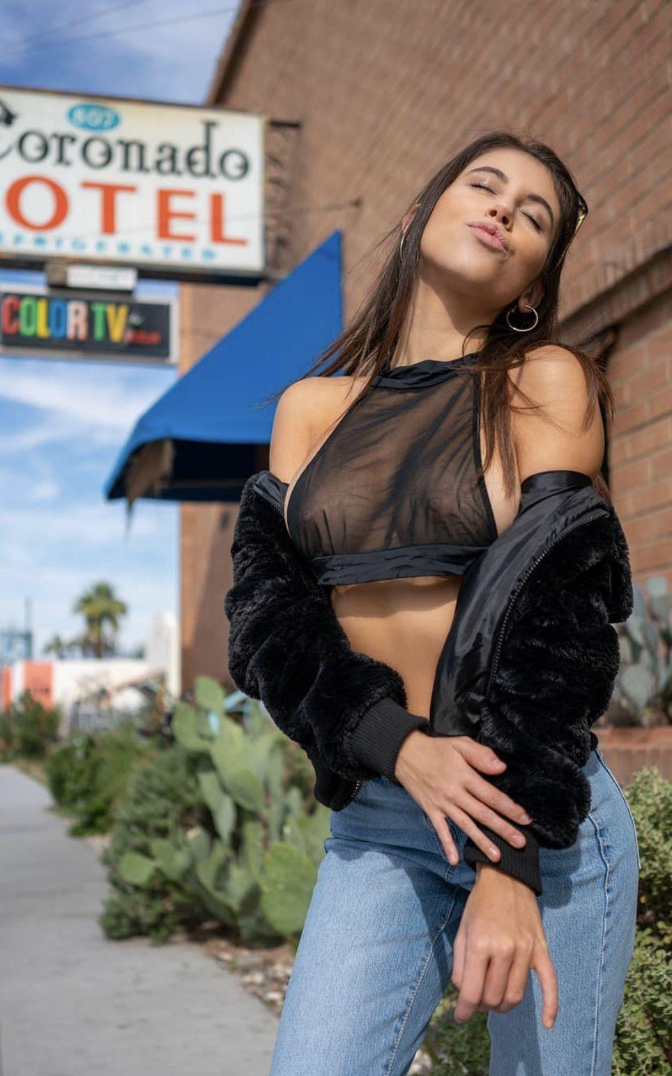 Busty Latina Brunette Teen