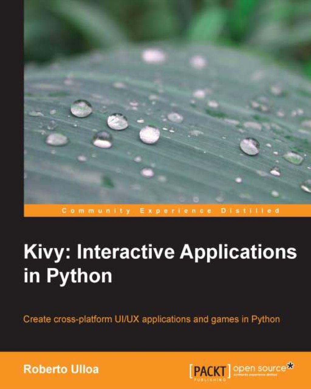 Kivy interactive applications in python ebook
