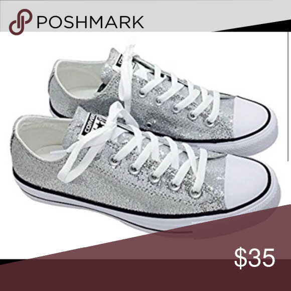 4cf7163c4ebf0d Converse Silver Low Tops Men s 11 Women s Size 13 Brand New Never Worn Low  Tops Converse Shoes Sneakers