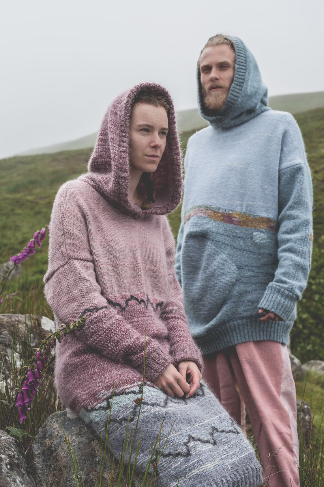 Felted Hoodies - Ethical Knitwear - Suzanna James Knitwear  Photo: Matt Honey Photography