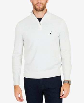 Nautica Mens Big and Tall Quarter//Zip Sweater