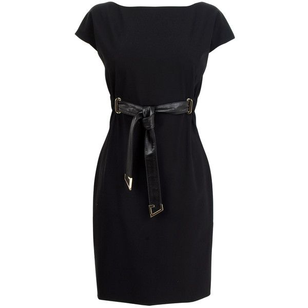 77128ce9bf7 GUCCI Wool Scuba Cap Sleeve Belt Dress...flannelsfashion