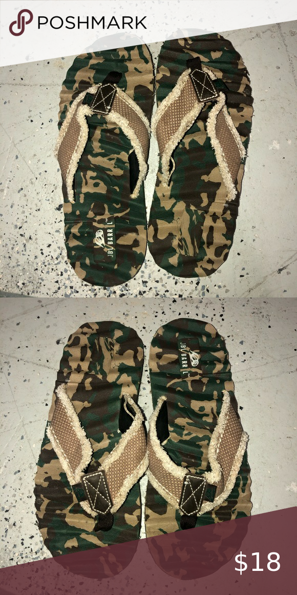 Camouflage Men's Flip Flops Men's Comfy ridged camouflage used flip flops si…