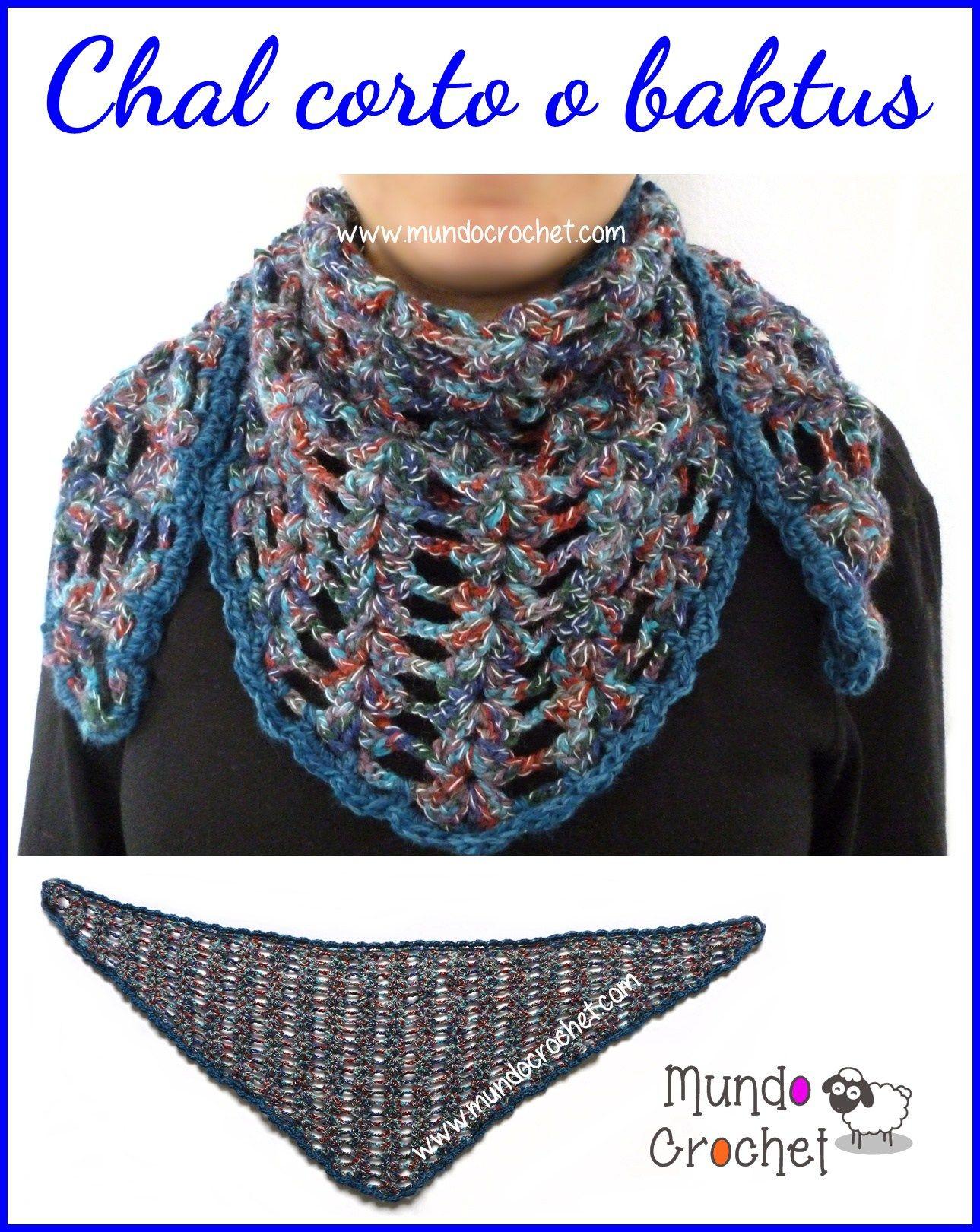 Baktus o chal a crochet o ganchillo01 | Punto | Pinterest | Patrones ...