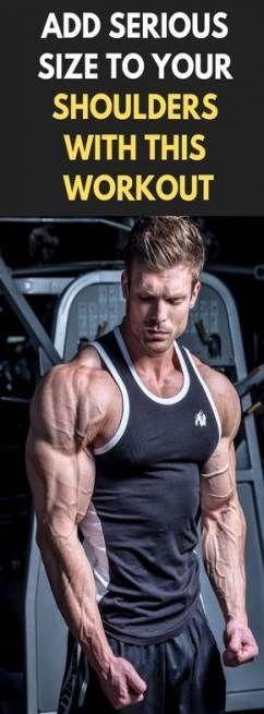 Fitness Motivation Hombres Shoulder Workout 18+ Ideas For 2019 #motivation #fitness