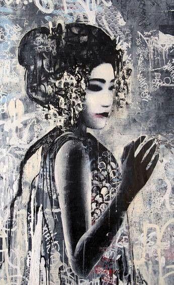 Gallery East Meets West In Hush S Klimt Esque Twin Series Street Art Street Art Graffiti Art