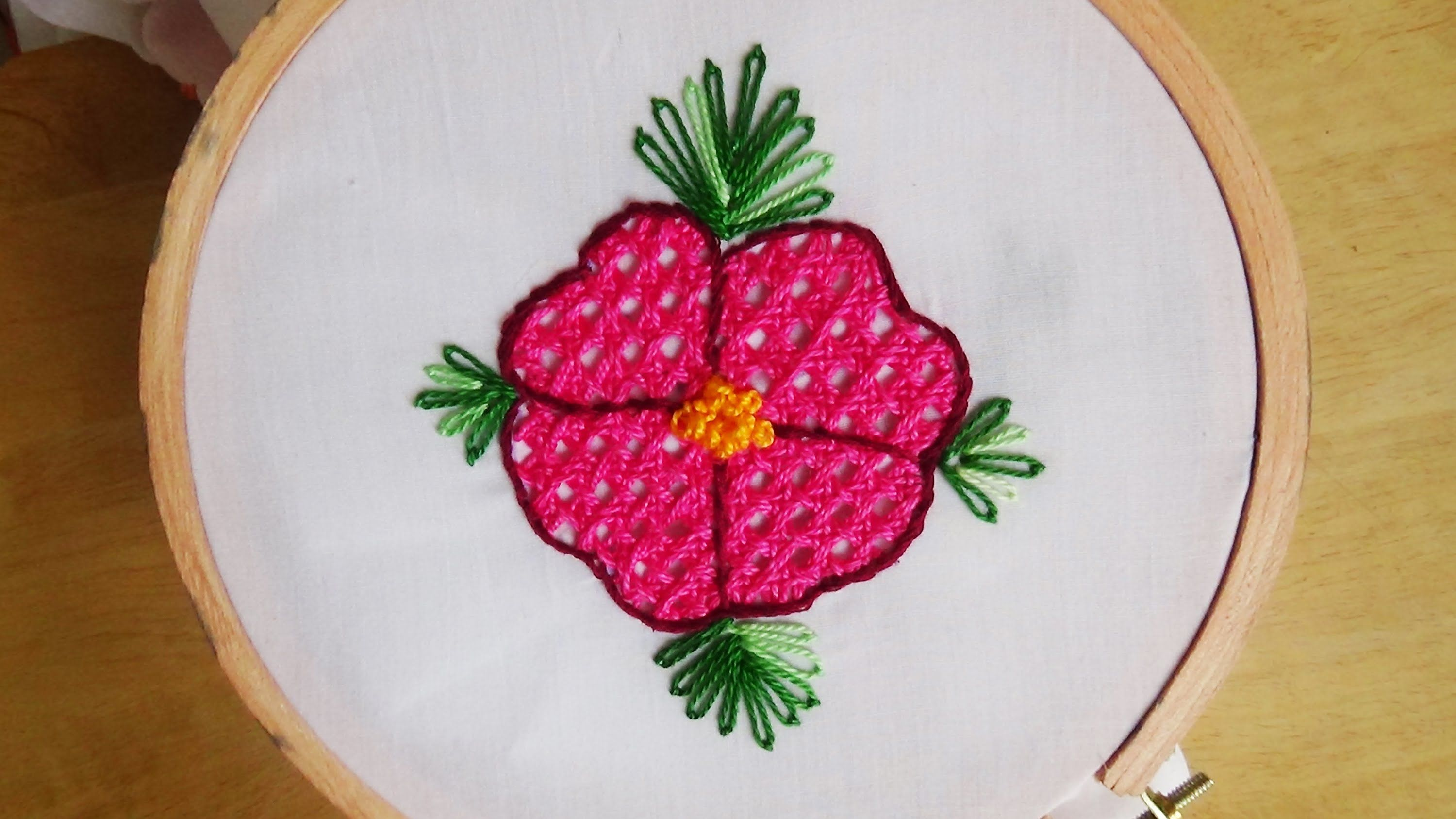 Hand Embroidery: Net Stitch - YouTube