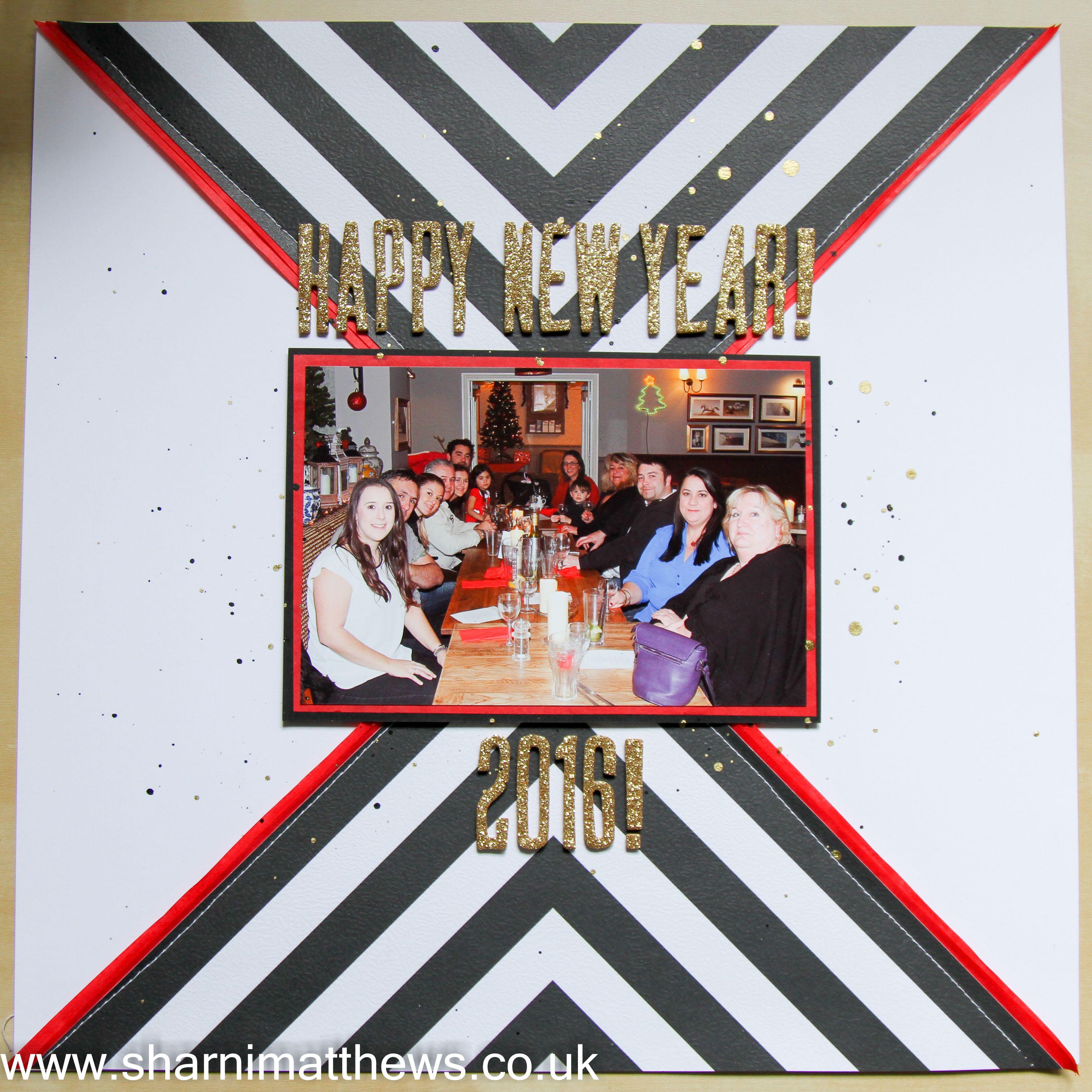 How to scrapbook uk - Scrapbook Layout Fancy Pants Office Suite Happy New Year Www