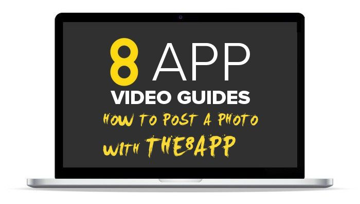 How to post a photo to The8App #howto8app #newsocial #instagram