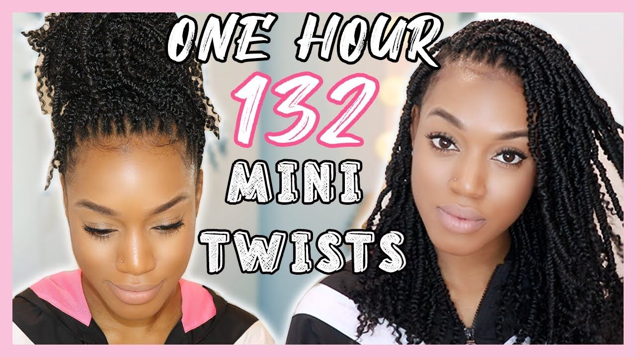 Sis 132 Mini Twists In 1 Hour Easy Crochet Hairstyle Ft Nomadik Mini Twists 2019 Youtube Crochet Hair Styles Mini Twists Twist