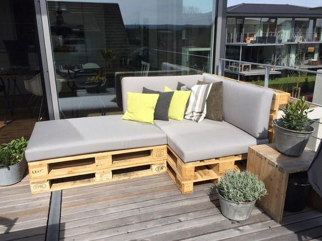 palettenkissen palettenauflagen lounge aus dralon garten pinterest. Black Bedroom Furniture Sets. Home Design Ideas