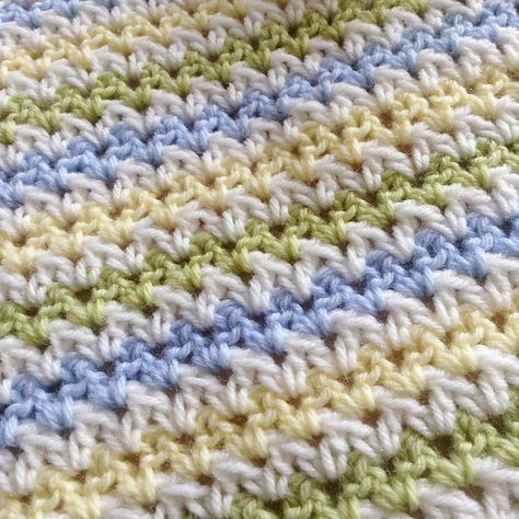 A very simple striped V-Stitch blanket, with sample chart to show - sample chart