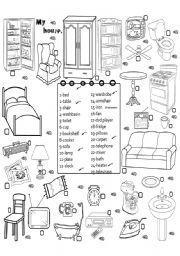 english worksheet furniture 3 englanti worksheets teaching english grammar english. Black Bedroom Furniture Sets. Home Design Ideas