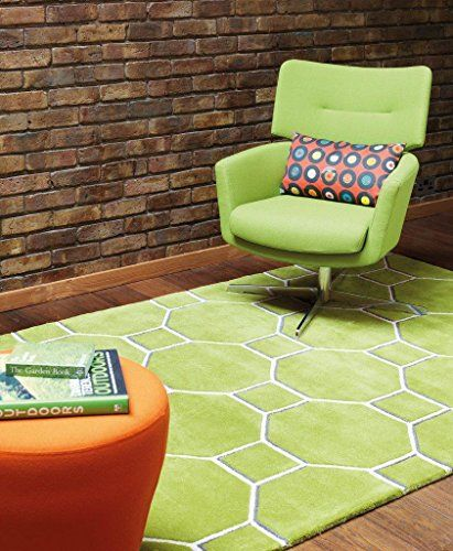 Teppich Wohnzimmer Carpet modern Design MATRIX CASSIN GEOMETRIE - wohnzimmer grun orange