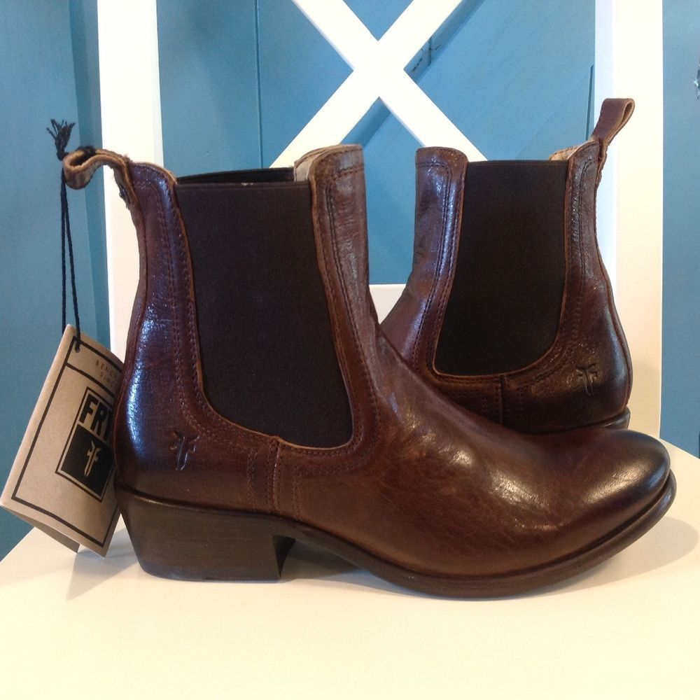 Frye Solid Ankle Boots Med (1 in. to 2 3/4 in.) Women's Shoes | eBay