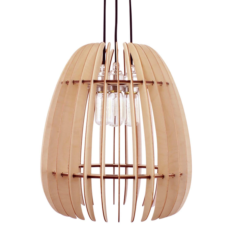 Pendelleuchten Sphara Ii Holz Hangelampe Holzleuchte Lampen