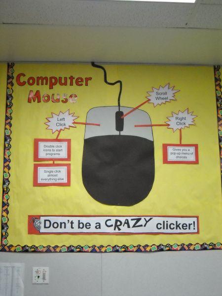 Dscn1915 Elementary Tech Teachers Computer Lab Bulletin Board Ideas Computer Lab Posters Computer Lab Decor