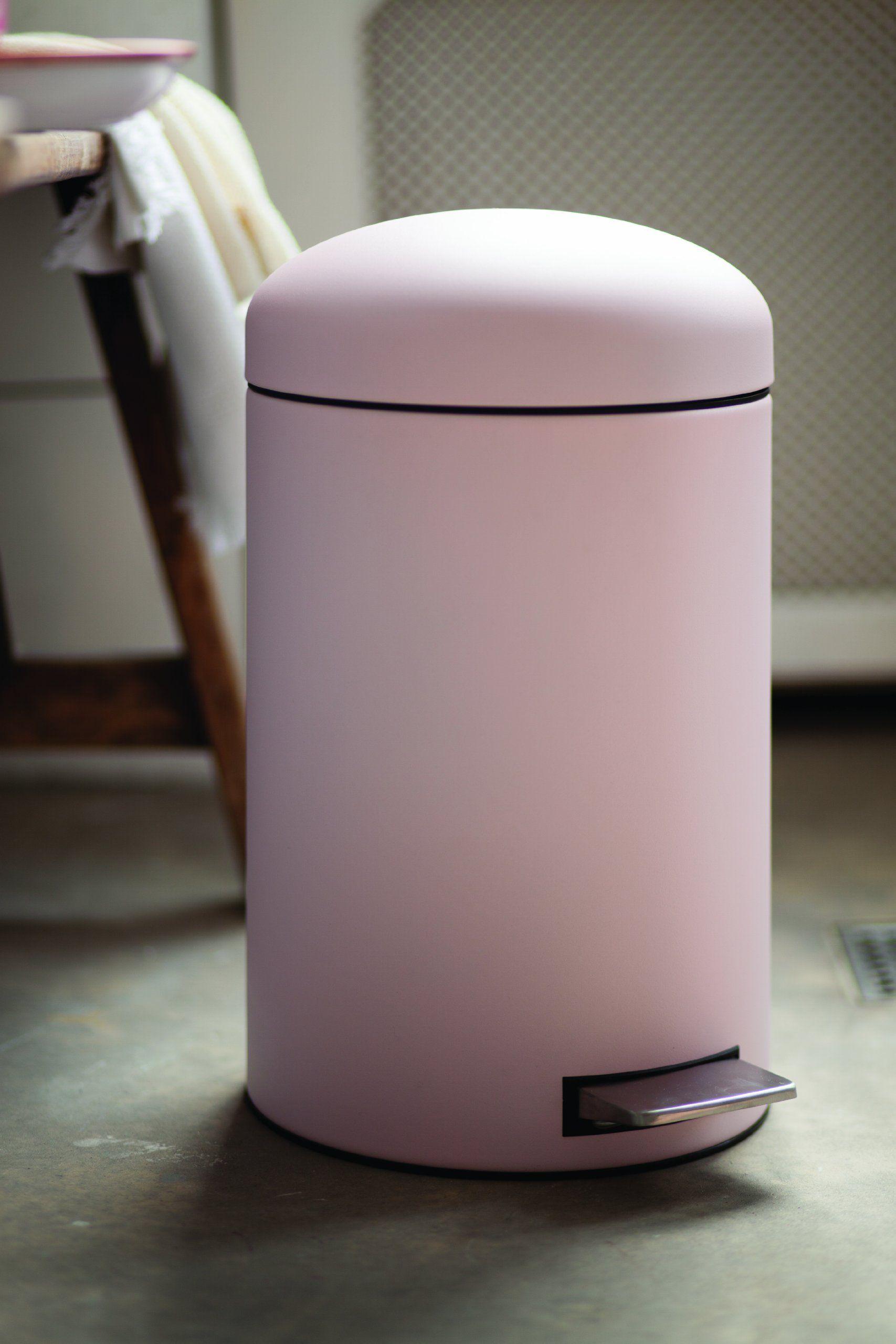 Brabantia Treteimer Retro Bin M Lleimer Abfalleimer Papierkorb Mit Kunststoffeinsatz Und Fl Sterdeckel Mineral Pink 12 Lit Abfalleimer Papierkorb Haushalt