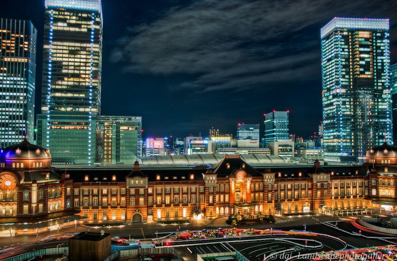 Tokyo Station 東京駅夜景~新丸ビルテラス【HDRi】