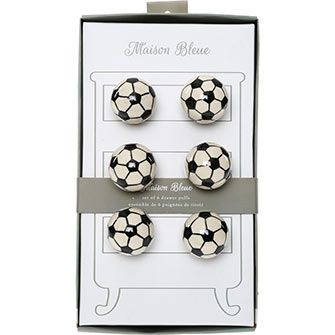 Set Of Six Football Door Knobs | tkmaxx.com | Pinterest | Kids room ...