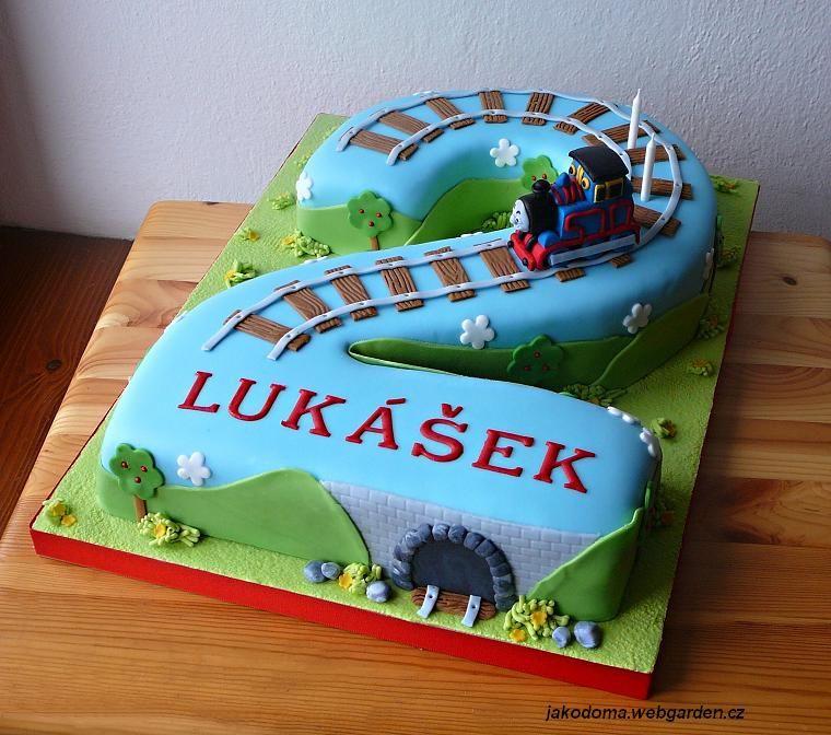 Phenomenal Number Two Cake Train Birthday Cake Childrens Birthday Cakes Personalised Birthday Cards Arneslily Jamesorg