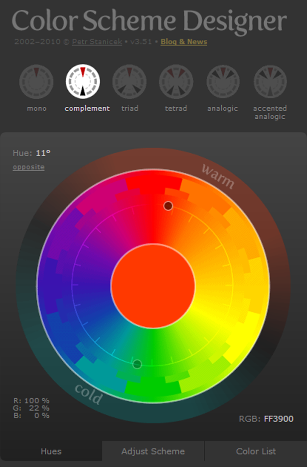 Color scheme designer very useful techniques observations formerly known as color scheme designer use the color wheel to create great color palettes ccuart Image collections