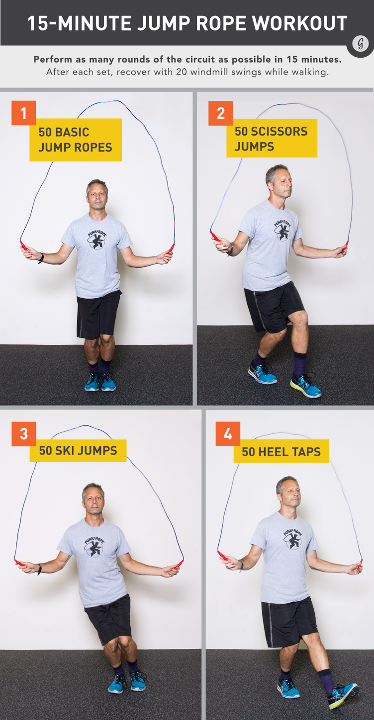 The Best 15 Minute Jump Rope Workout Jump Rope Workout Jump Rope Fun Workouts