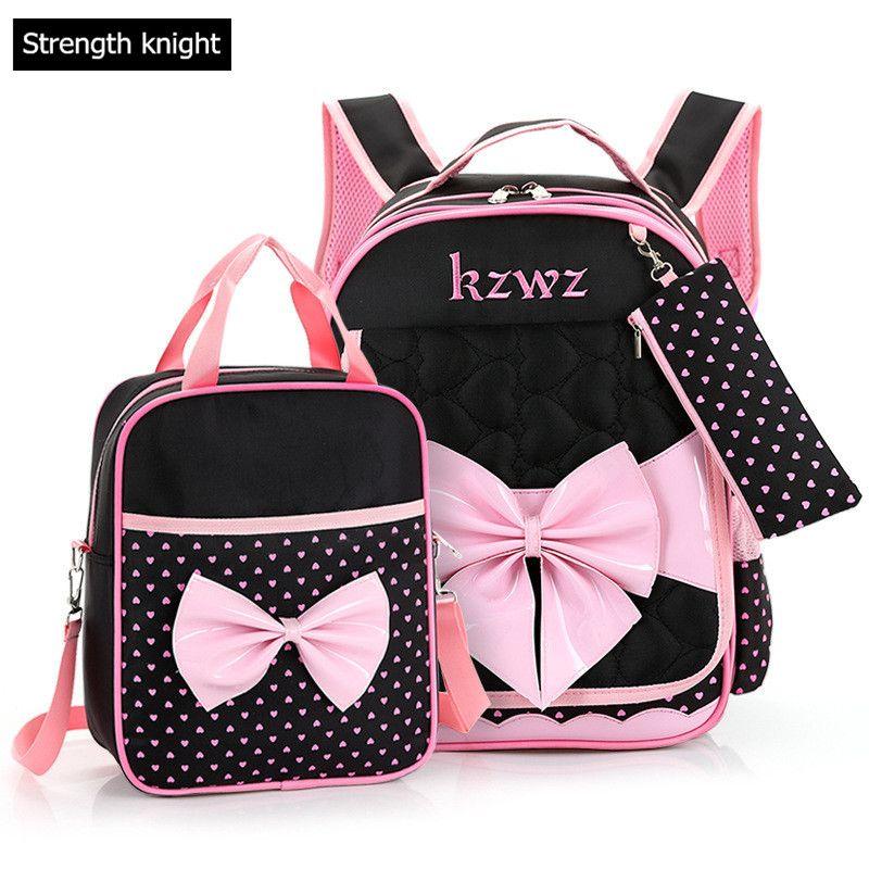 Lovely Bow Mochilas Schoolbags Children School Bags For Girls Backpack Kid  Bag Girl School book Bag Gift Bags 16f4027832d38