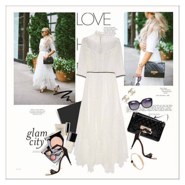 """""""Victorian white"""" by amaryllis ❤ liked on Polyvore featuring Mode, Chanel, Alice + Olivia, Ted Baker und Eyeko"""