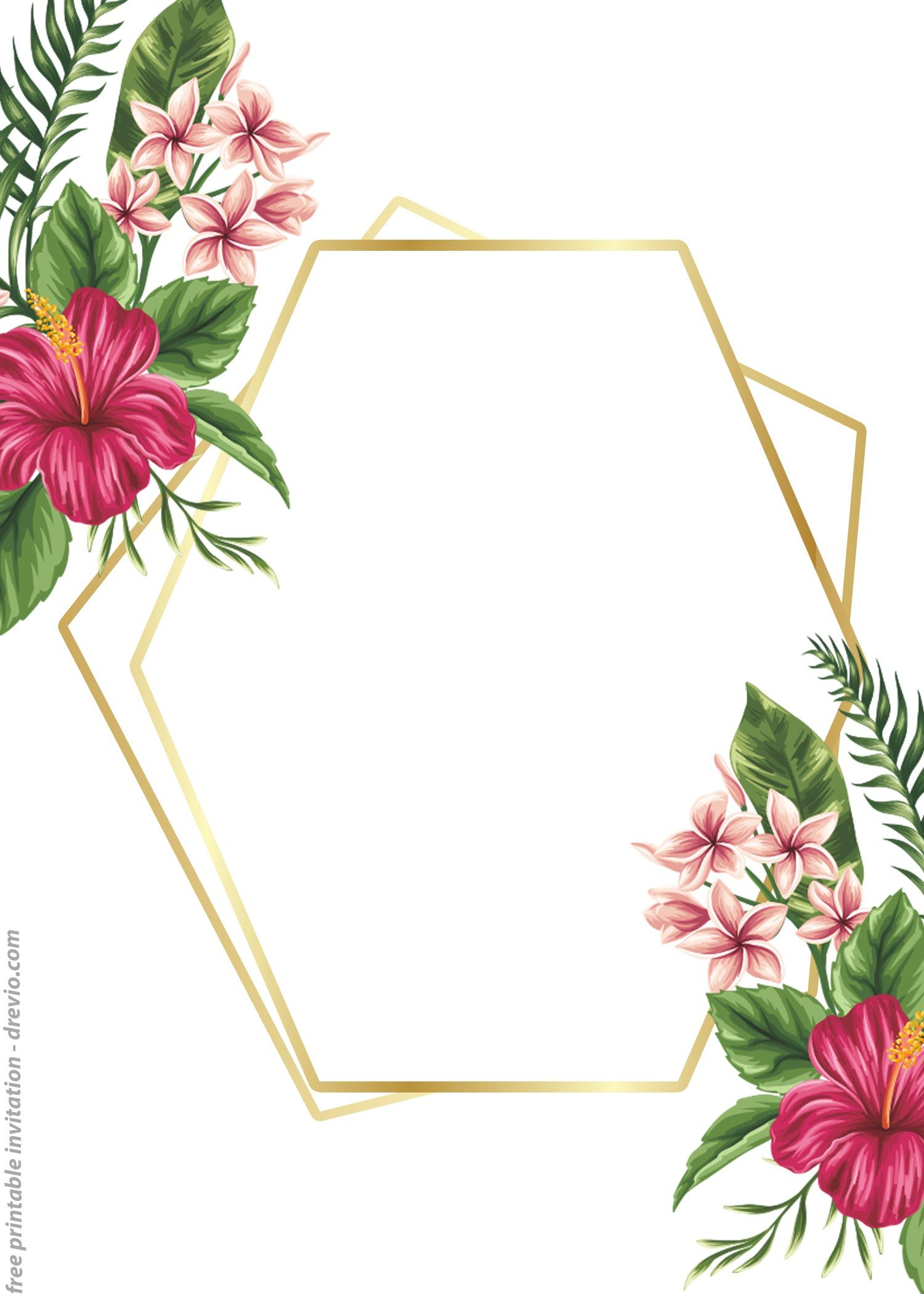 24 Free Printable Floral Watercolor Invitation Templates For Any Occasions Drevio In 2020 Floral Printables Templates Printable Free Floral Invitations Template