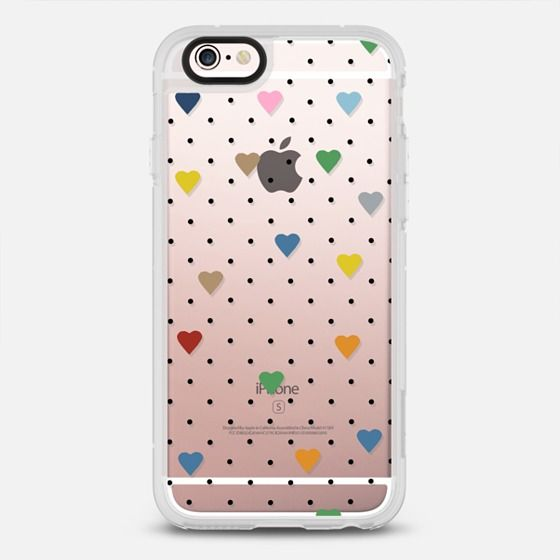 Pin Point Hearts Transparent - New Standard Case