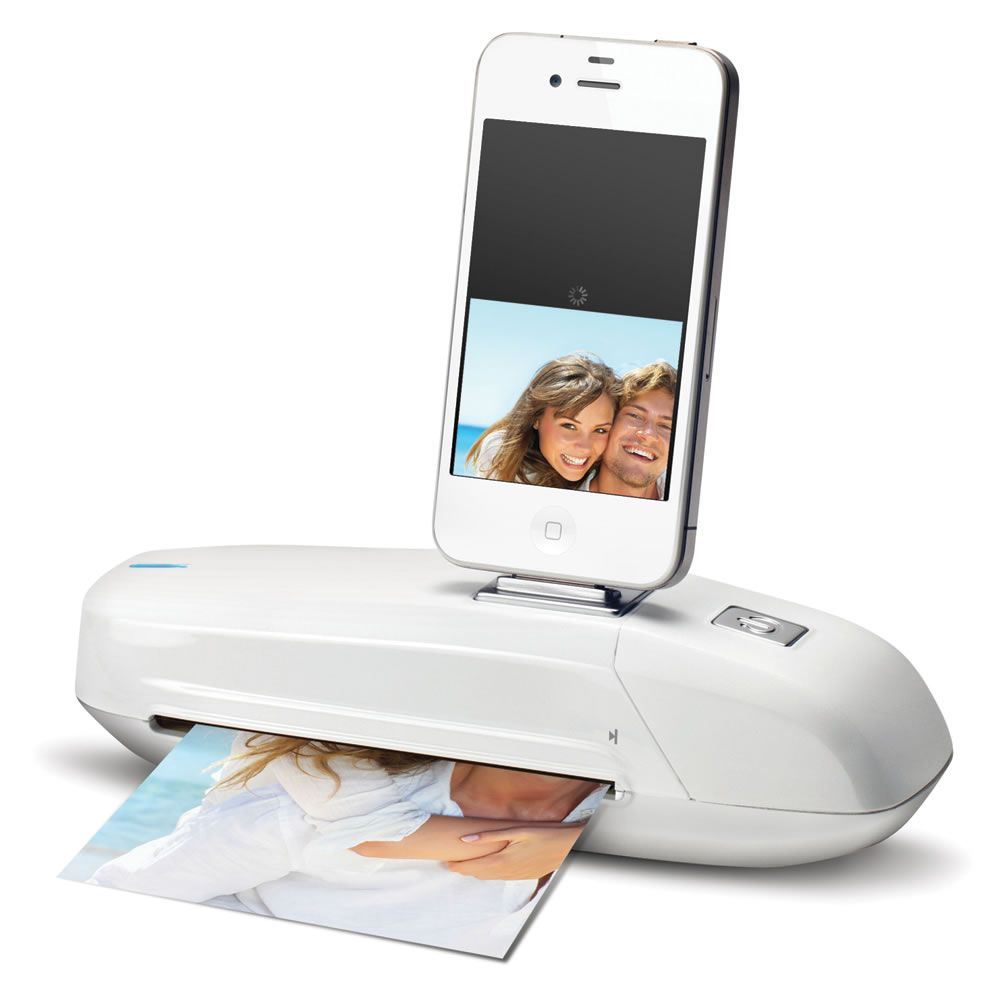 add printer to iphone the direct to iphone ipod scanner hammacher schlemmer 13366