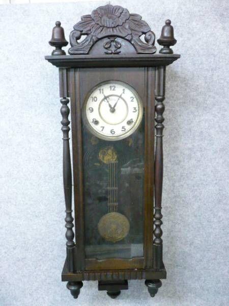 【文】6662アンティーク柱時計Owari昭和レトロ骨董古物 Watch wall clock ¥17800yen 〆04月26日