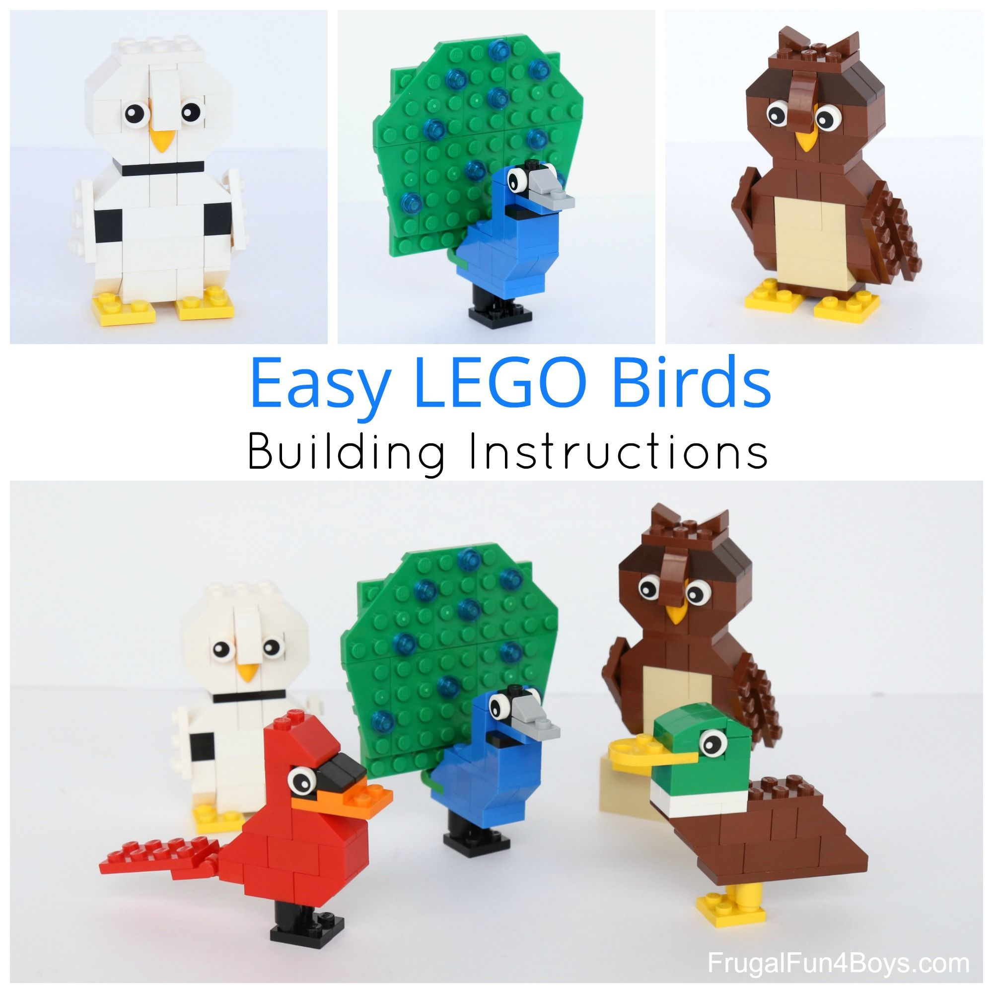 Simple Brick Birds Building Instructions Lego Building And Lego Group