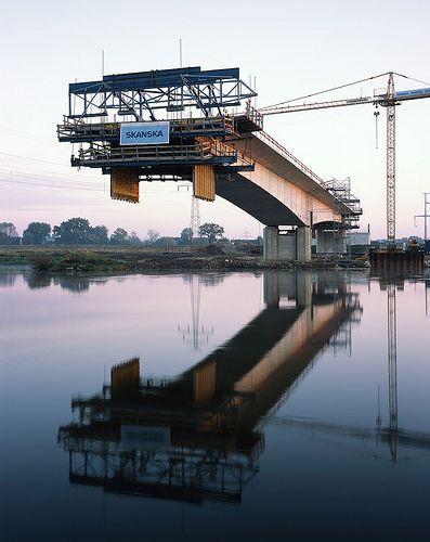 construction of a bridge - source http://anthropogenics.tumblr.com/