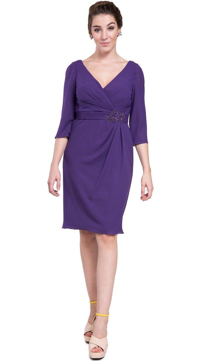 vestido corto morado para fiesta de pronovias disponible en alquiler ...