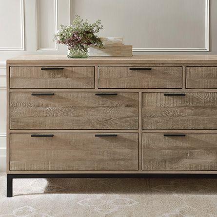 Palmer 7 Drawer Dresser In Natural Oak